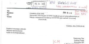 Petycja o ojcostwo w Konstytucji - informacja w BIP Kancelarii Prezydenta